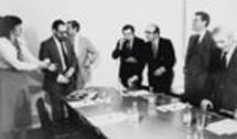 Com Pedro Roseta e Amândio de Azevedo (PSD), Basílio Horta, Francisco Oliveira Dias e Freitas do Amaral (CDS) e Gonçalo Ribeiro Telles (PPM), nos tempos da AD, em 1981
