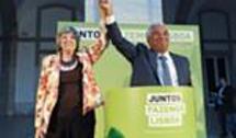 Com António Costa em 2013. Roseta foi candidata à Assembleia Municipal de Lisboa como independente nas listas do PS nesse ano