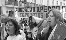 Em manifestação pela habitação em 2007