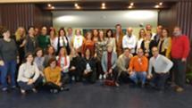 Helena Roseta com os funcionários que apoiam a assembleia municipal de Lisboa