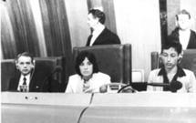 Na Assembleia Parlamentar do Conselho da Europa, em 1982