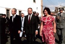 Com Mário Soares no 10 de junho em Évora, 1986