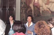 Com Simone Veil em Lisboa, em 1982