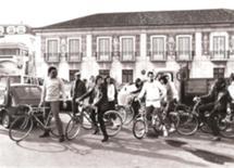 Na campanha para a Câmara de Cascais, com A. Capucho e Marcelo R.S. em 1982